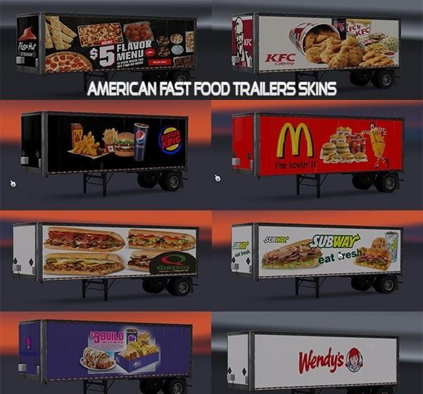 American Fast Food Trailers Skins v1 • ATS mods | American ...