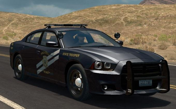 2012 dodge charger police cruiser v1 ats mods american truck simulator mods. Black Bedroom Furniture Sets. Home Design Ideas