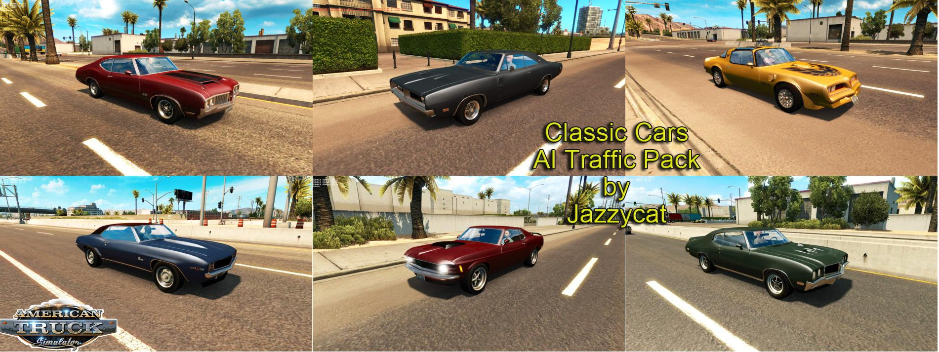 Classic Cars Ai Traffic Pack By Jazzycat V1 1 Ats Mods