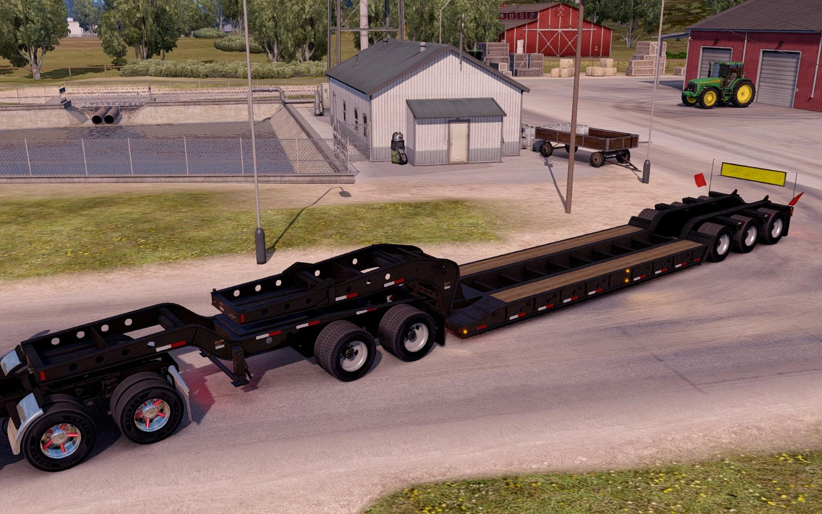Empty Oversized Trailer Magnitude 55l For Ats Ats Mods