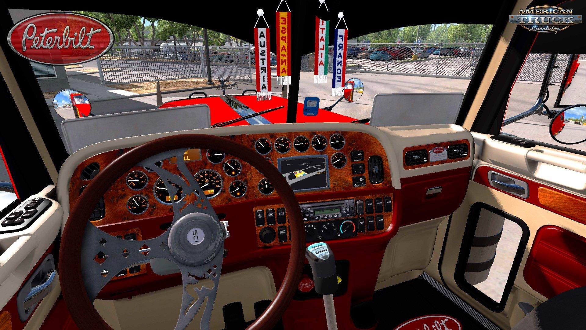 Nice Modified Peterbilt 389 + Interior V2.1 (1.28.x) American Truck Simulator  Game. Design Ideas