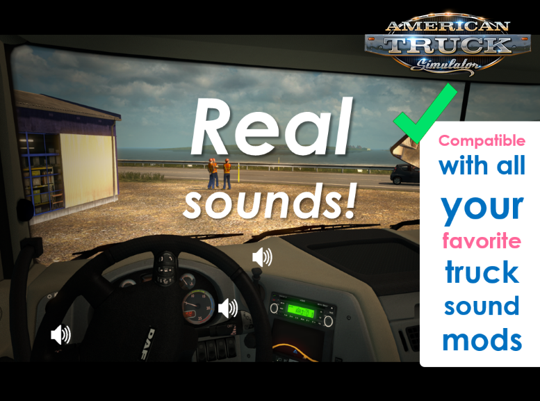 Sound Fixes Pack v17 35 1 for Ats + Ets2 • ATS mods