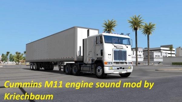 Cummins M11 engine sound mod • ATS mods | American truck