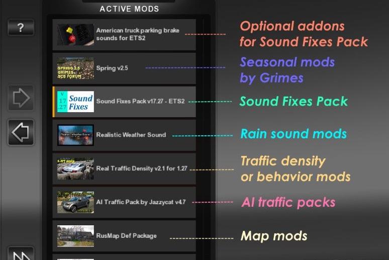Sound Fixes Pack v 17 41 • ATS mods | American truck simulator mods