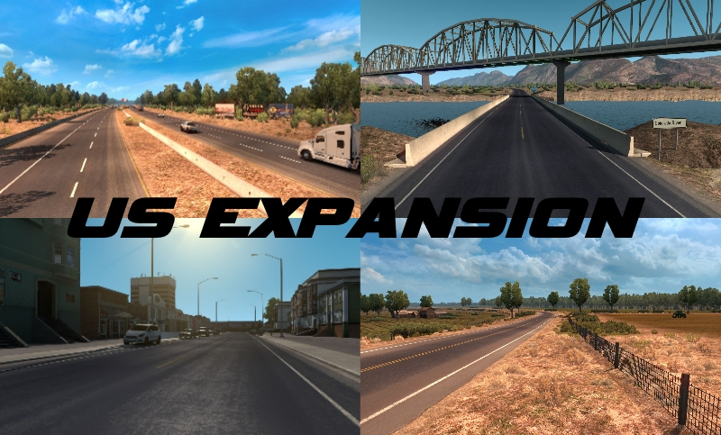 US Expansion V2.4 • ATS mods | American truck simulator mods ...