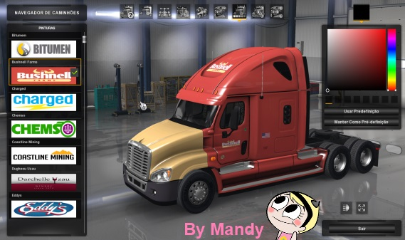 Freightliner Cascadia Mandy Skin SCS Company Mod • ATS mods