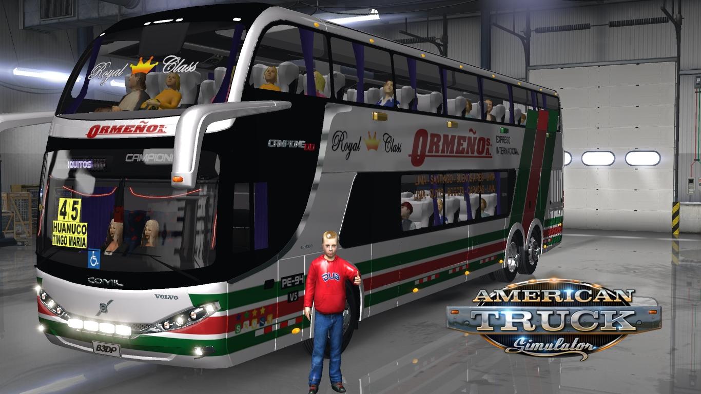 Comil DD 6x2 • ATS mods | American truck simulator mods
