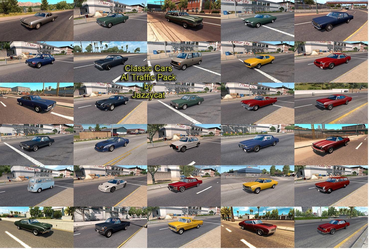 [ATS] Classic Cars in AI Traffic Pack v4.9 (1.36.x) • ATS ...
