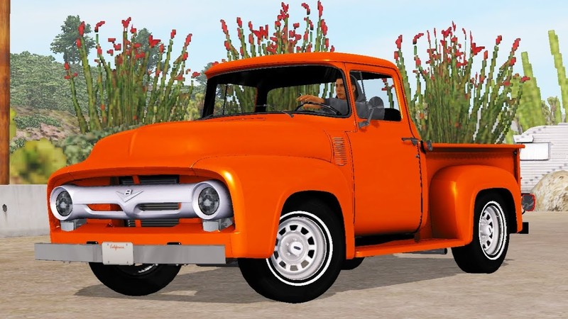 Ford F-100 Custom Cab 1956 + Mini Trailer v1 2 (1 35 x) • ATS mods