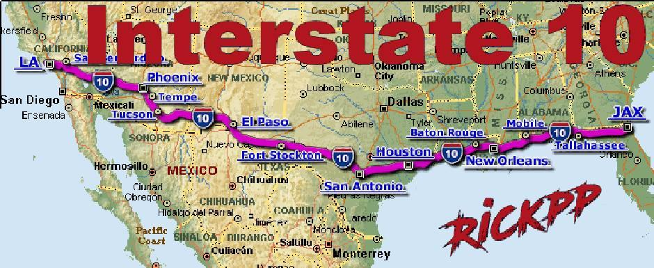 Map Of Us Interstate 10 Interstate 10 v1.2 [update] 1.36.x • ATS mods | American truck