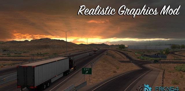 REALISTIC GRAPHICS MOD V1 9 2 (1 29 x) • ATS mods   American truck