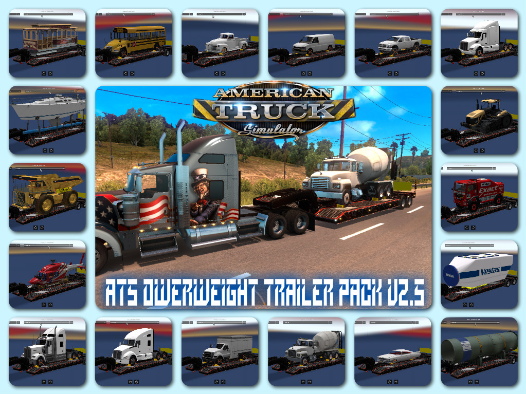 Overweight trailer pack v2 5 • ATS mods | American truck