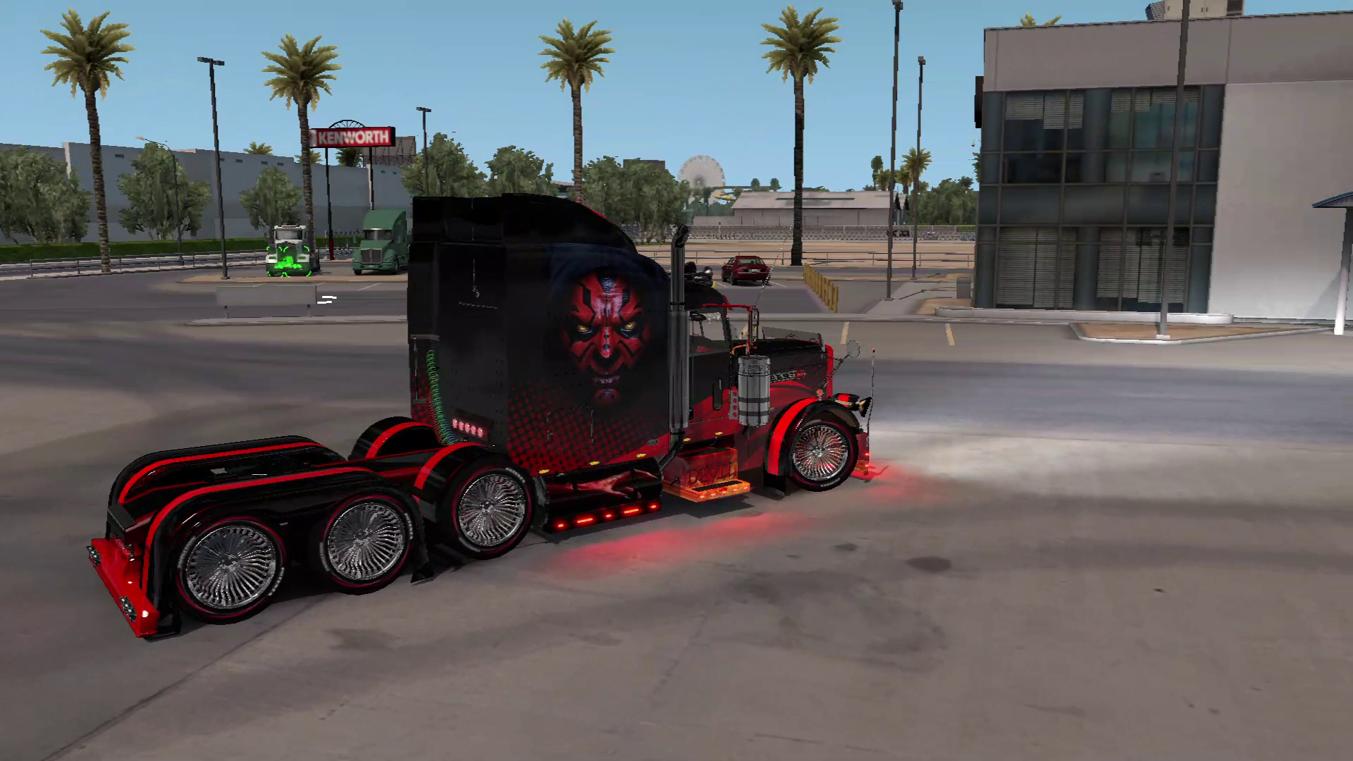 Skin Red Devil for Peterbilt 389 by