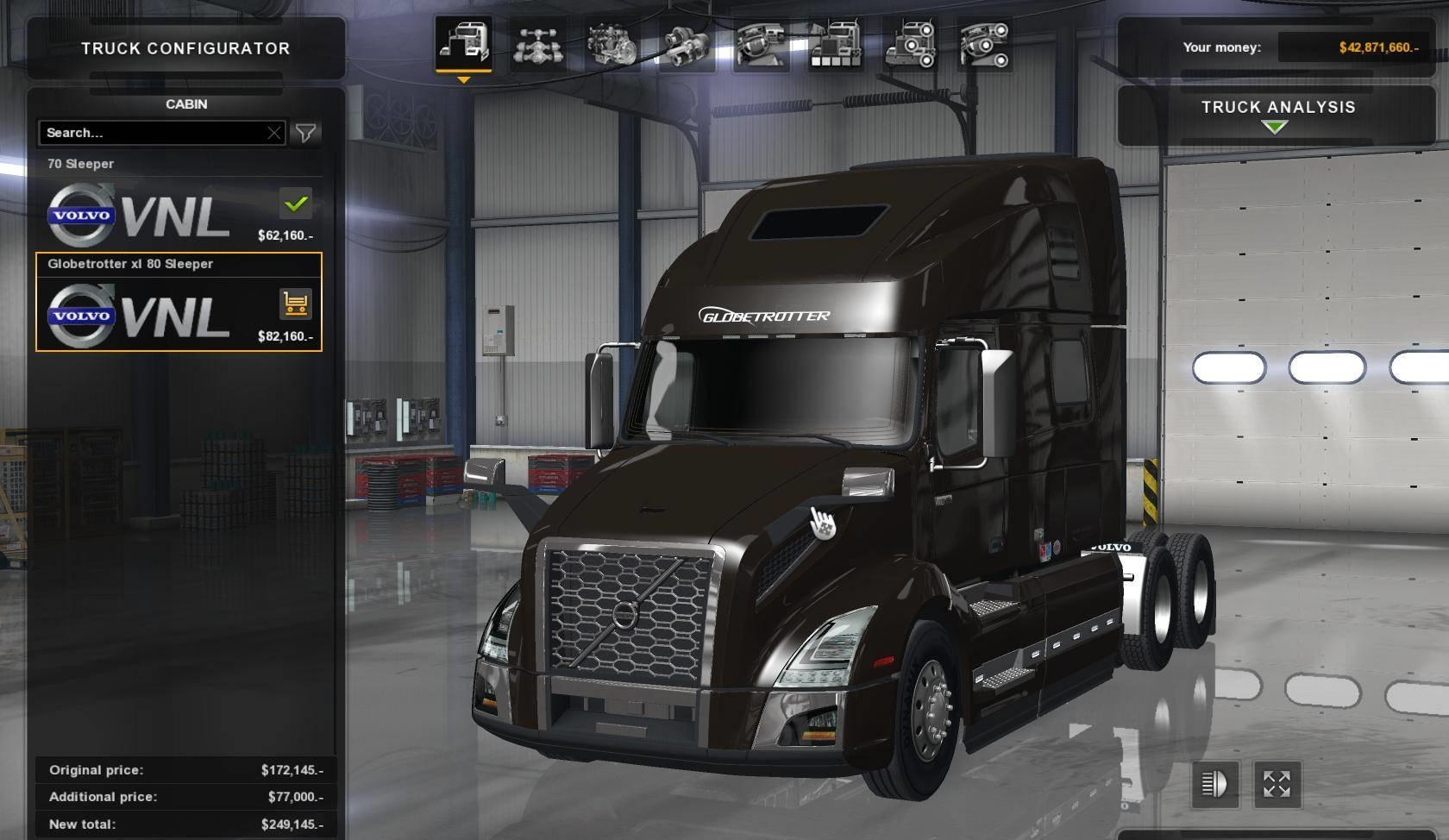 volvo vnl 760 2018 updated ats mods. Black Bedroom Furniture Sets. Home Design Ideas