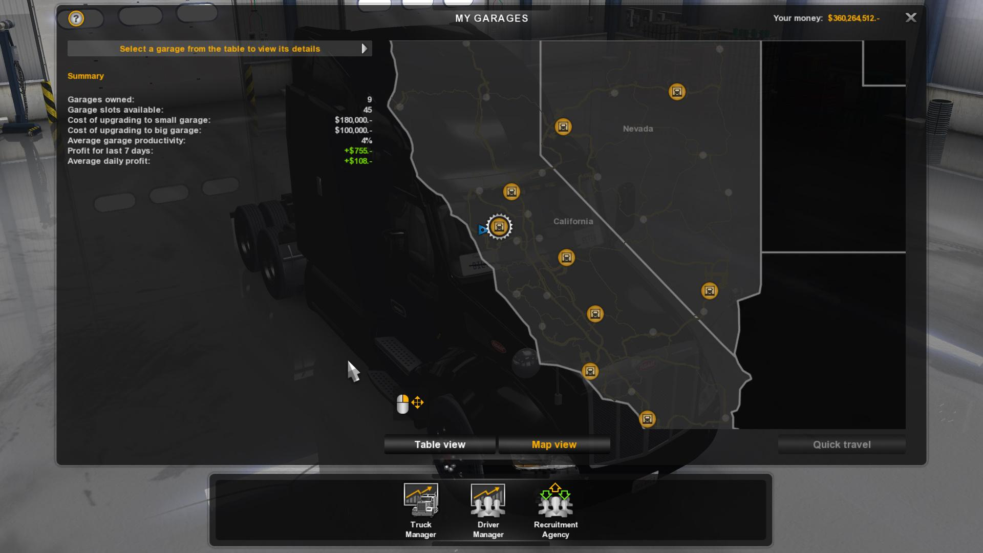 100% Save Game + Free Cam • ATS mods | American truck ...