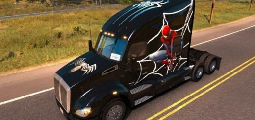 Kenworth-T680-Spiderman-Skin_RQW54