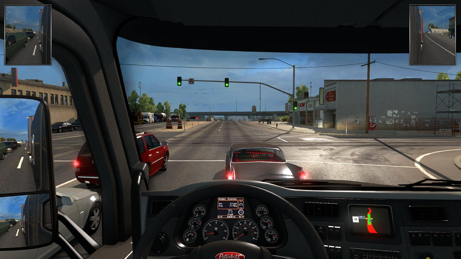 HUD Mirrors Made Smaller • ATS mods | American truck
