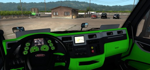 peterbilt-579-neon-green-interior_1