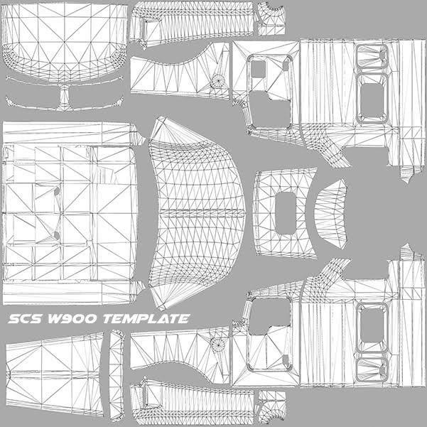 scs w900 template ats mods american truck simulator mods
