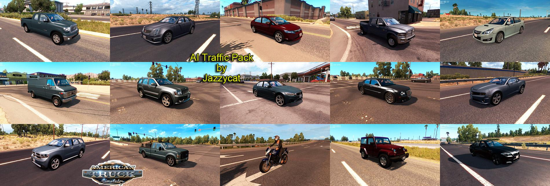 AI Traffic Pack by Jazzycat v1 3 • ATS mods | American truck