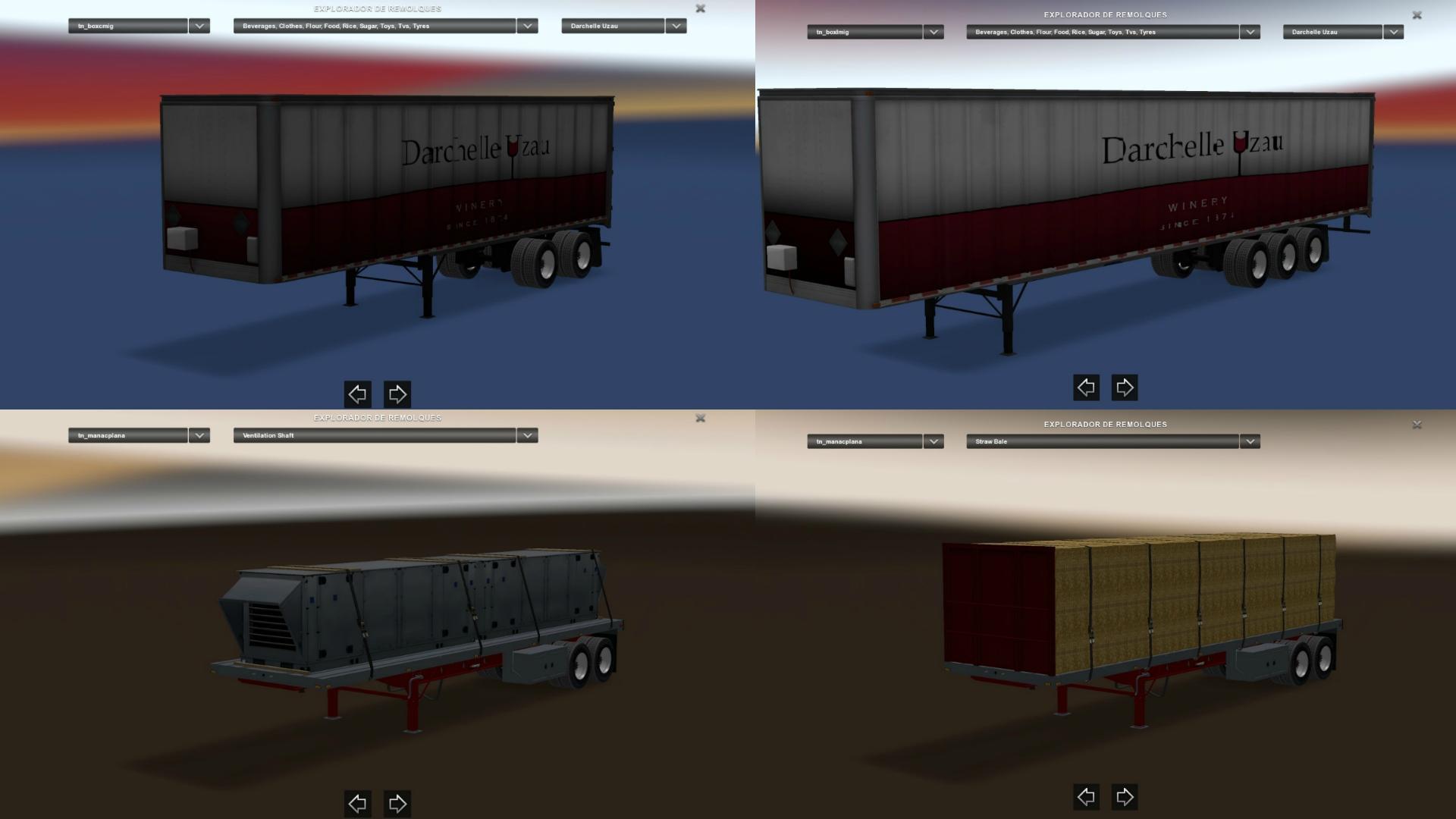 ATS Trailers Pack v1 1 • ATS mods | American truck simulator