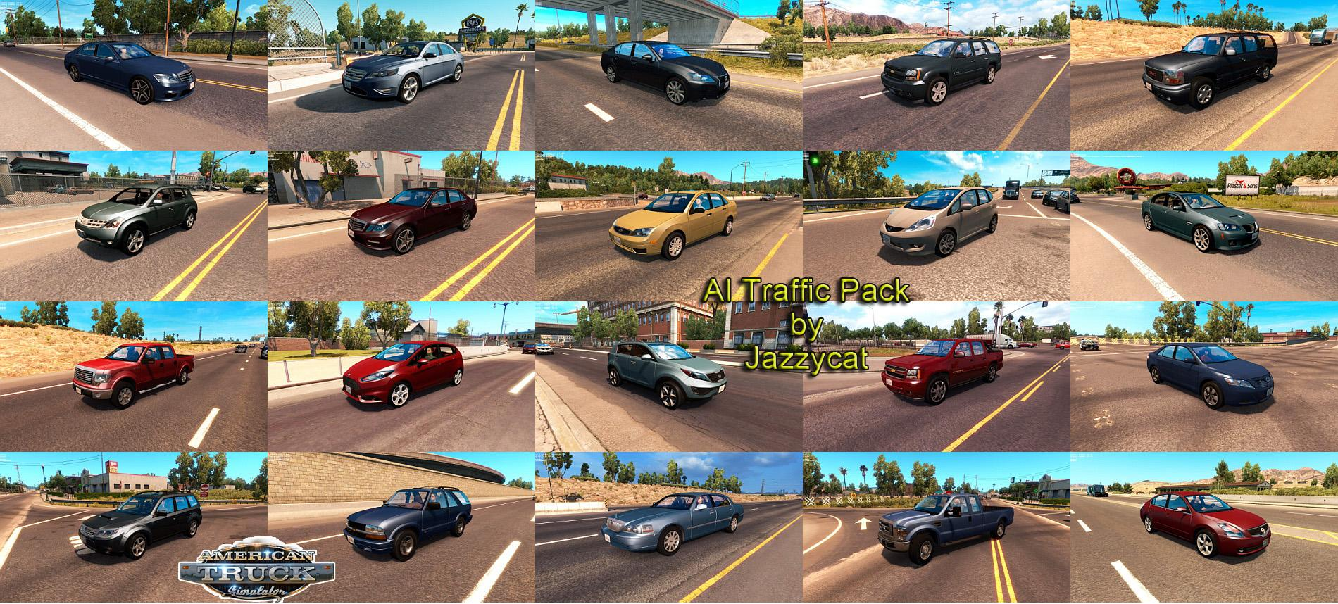 AI Traffic Pack by Jazzycat v1 5 • ATS mods | American truck