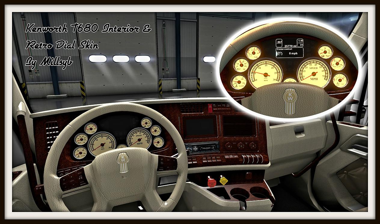 Kenworth T680 Interior U0026 Retro Dial Skin