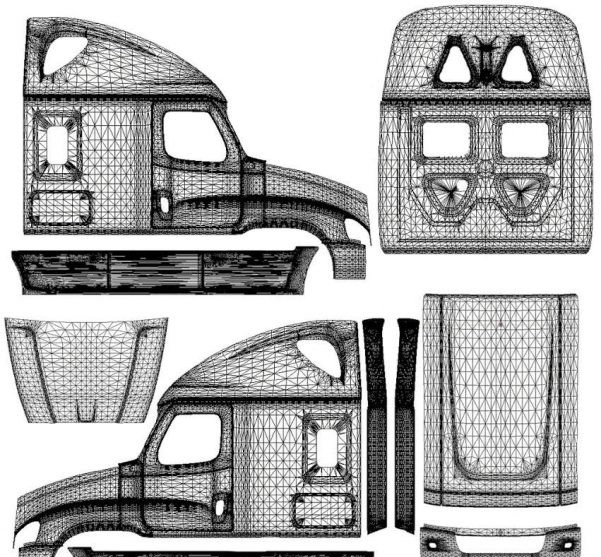 freightliner cascadia template for skins ats mods american truck