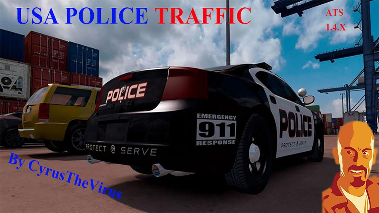 Usa Police Traffic 1 4 X Ats Mods American Truck