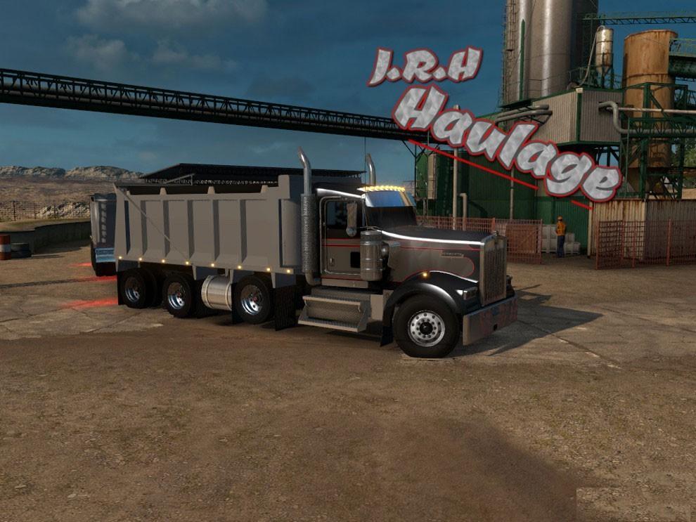 SCS W900 Dump Truck • ATS mods | American truck simulator