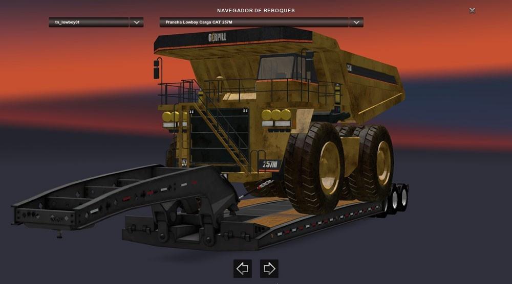 Trailer Lowboy Cat 257m Ats Mods American Truck
