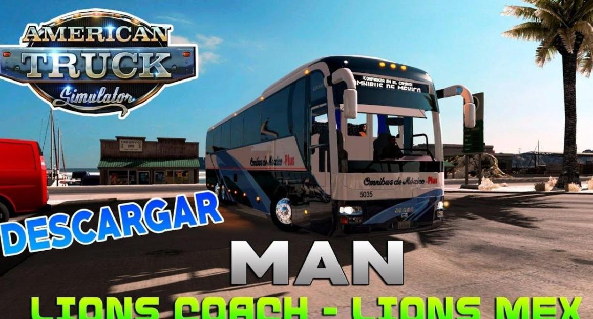 MAN Lion Coach • ATS mods | American truck simulator mods