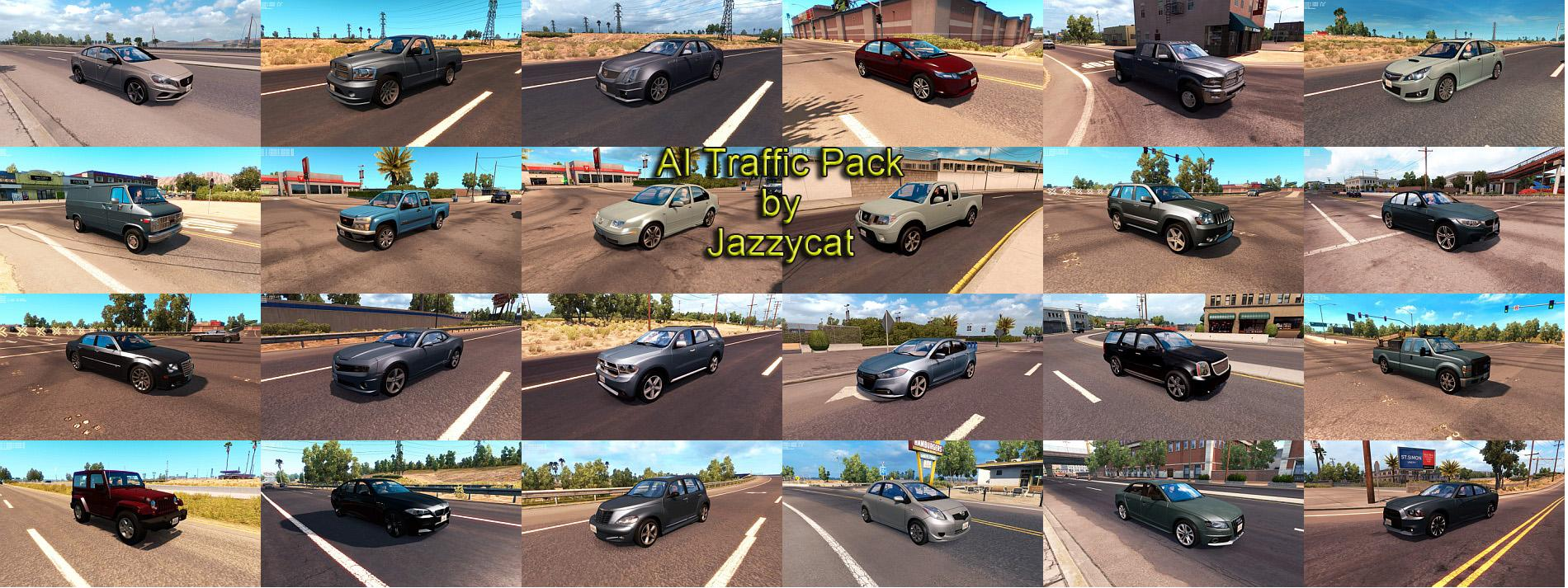 AI Traffic Pack by Jazzycat v1 8 • ATS mods | American truck