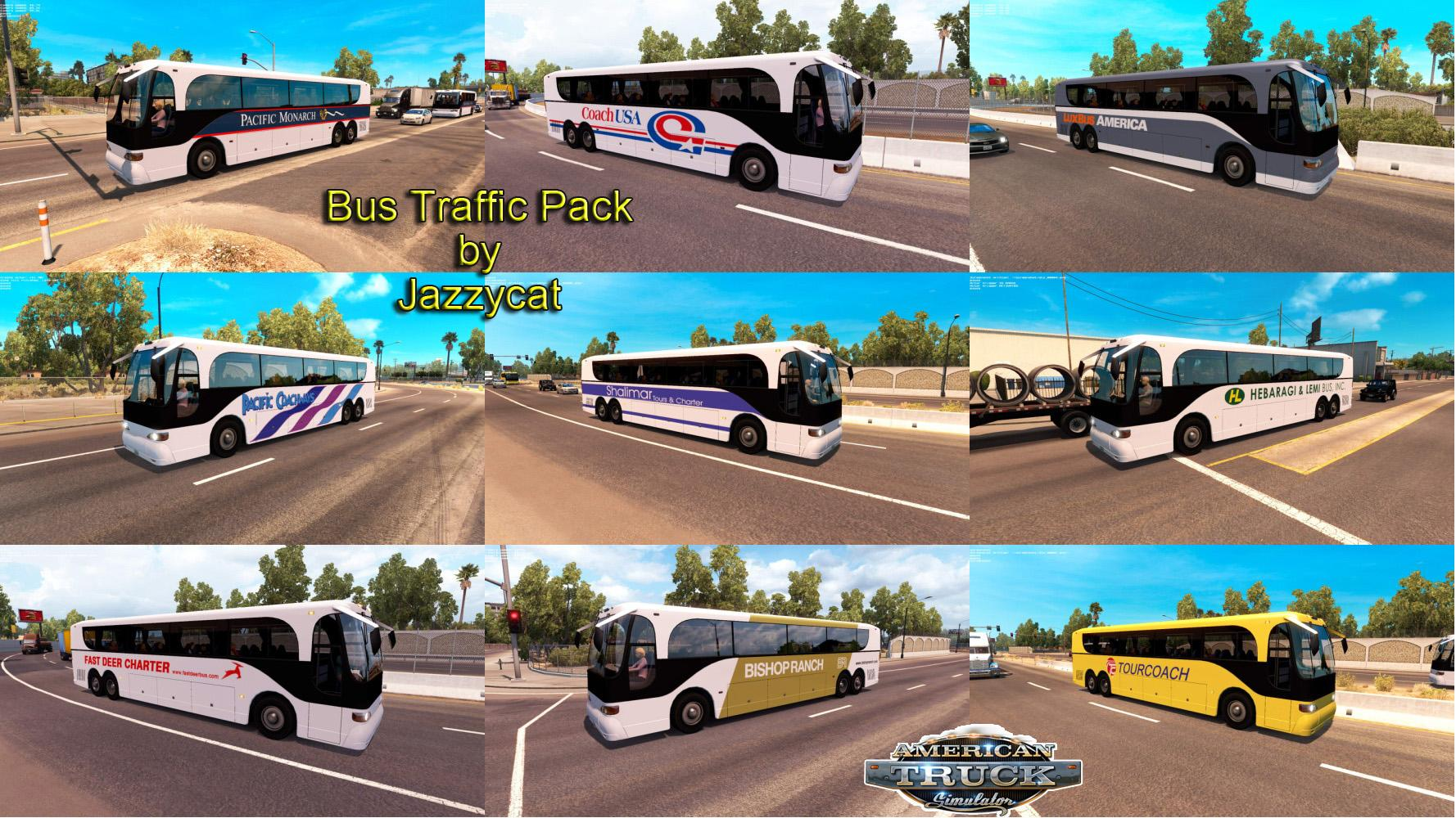 Bus traffic pack by Jazzycat v1 1 • ATS mods | American