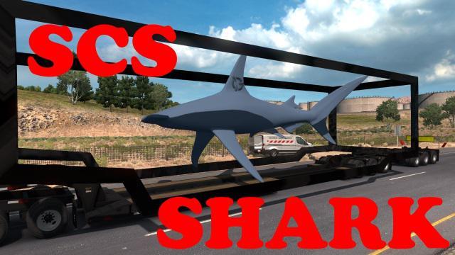 SCS SHARK AQUARIUM SPECIAL TRANSPORT 1 34 X • ATS mods